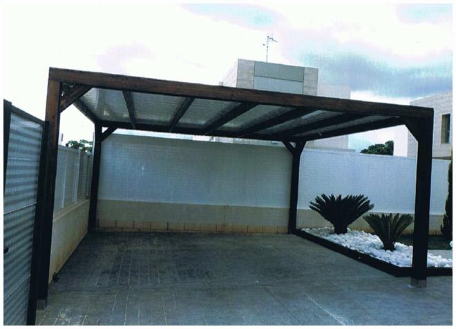 Pergola cochera materiales de construcci n para la reparaci n - Pergolas para garajes ...